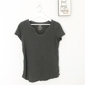Faded Glory | Distress Scoop Neck T |